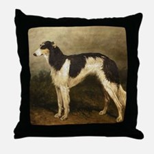 Borzoi Oil Painting 2 Throw Pillow