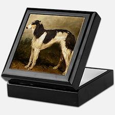 Borzoi Oil Painting 2 Keepsake Box