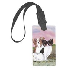 stadium blanket two papillons Luggage Tag