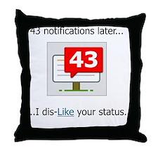43 Notifications.gif Throw Pillow