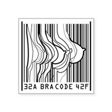 "BRA CODE T-SHIRT Square Sticker 3"" x 3"""