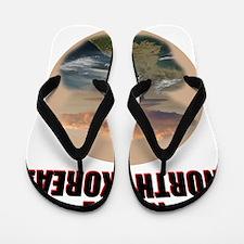 nuke noth korea Flip Flops