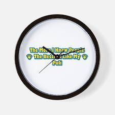 Like My Puli Wall Clock