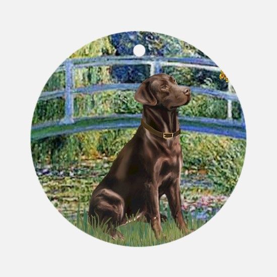 Bridge - Chocolate Lab 11 Round Ornament