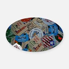 cm beach tags Oval Car Magnet