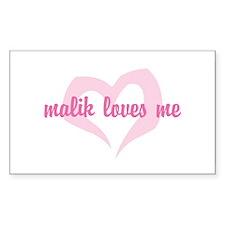 """malik loves me"" Rectangle Decal"