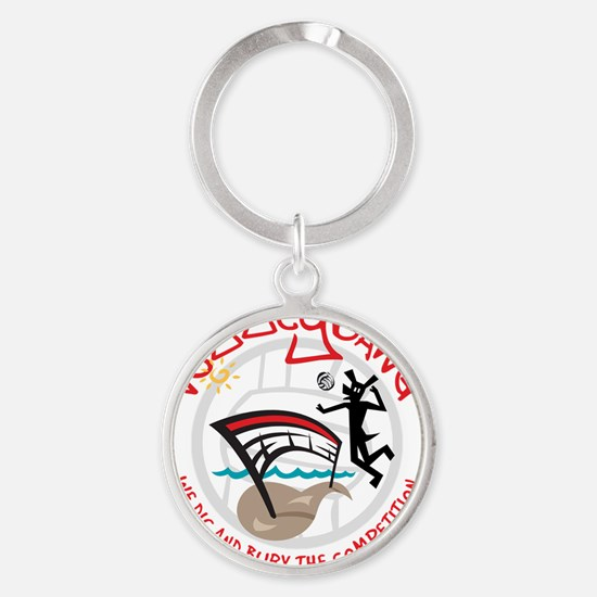 Volleydawg-iPad Round Keychain