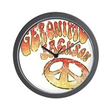 GERONIMOJACKSONPEACE Wall Clock