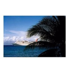 Carnival docked at Grand  Postcards (Package of 8)