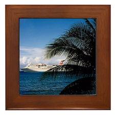 Carnival docked at Grand Cayman Framed Tile