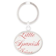 Little Spanish Princess Oval Keychain