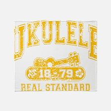 Ukulele Real Standard Throw Blanket