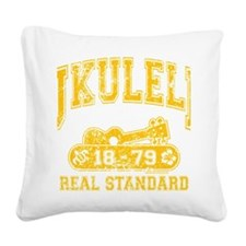 Ukulele Real Standard Square Canvas Pillow