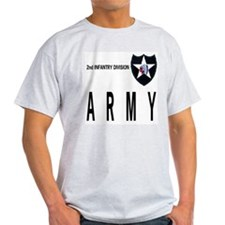 2nd INFANTRY Ash Grey T-Shirt