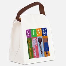 Microphones8BoxDarker Canvas Lunch Bag