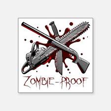 """machete-chainsaw-shotgun Square Sticker 3"""" x 3"""""""