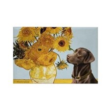 Sunflowers (MP) - Choc Lab 11 Rectangle Magnet