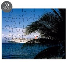 Carnival docked at Grand Cayman14x10 Puzzle
