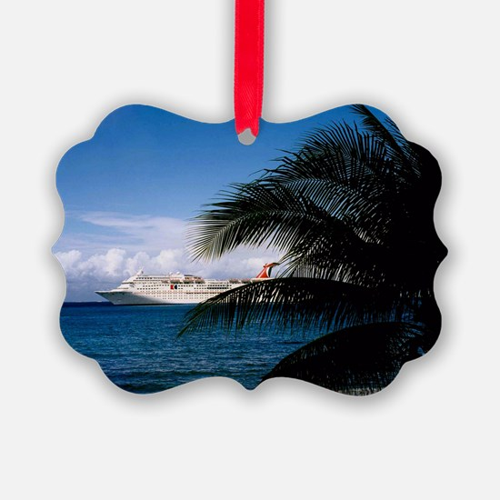 Carnival docked at Grand Cayman14 Ornament