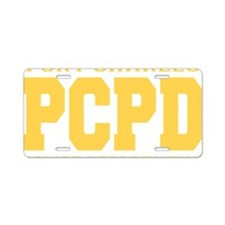 PCPD yellow Aluminum License Plate