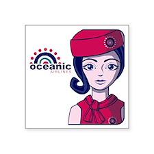 """Stewardess09_12x12W Square Sticker 3"""" x 3"""""""