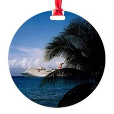 Carnival docked at Grand Cayman11x1 Ornament