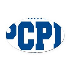 PCPD blue Oval Car Magnet