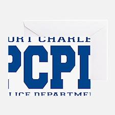 PCPD blue Greeting Card