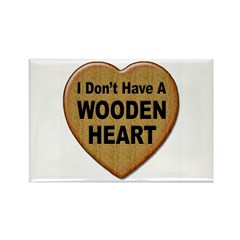 No Wooden Heart Rectangle Magnet (10 pack)