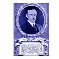Coolidge-quote-card-blue Postcards (Package of 8)