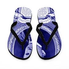 Coolidge-quote-card-blue Flip Flops