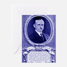 Coolidge-quote-card-blue Greeting Card