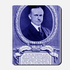 Coolidge-quote-card-blue Mousepad