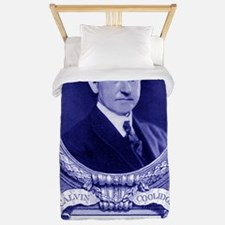 Coolidge-quote-card-blue Twin Duvet