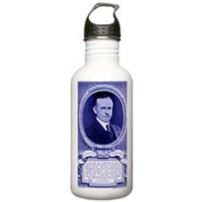 Coolidge-quote-card-bl Water Bottle