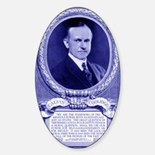 Coolidge-quote-card-blue Decal