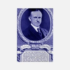 Coolidge-quote-card-blue Rectangle Magnet