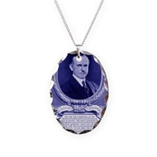Coolidge-quote-card-blue Necklace