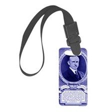 Coolidge-quote-card-blue Luggage Tag