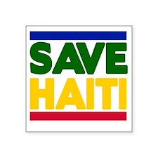 "haiti2.gif Square Sticker 3"" x 3"""