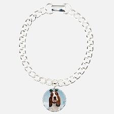 cp_bassetxmascardfront Bracelet