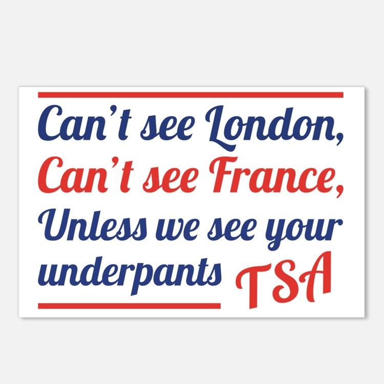 TSAUnderpants Postcards (Package of 8)