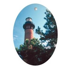 Currituck Lighthouse Duck, NC Oval Ornament