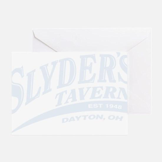 Slyders Logo 10x7_reversed Greeting Card