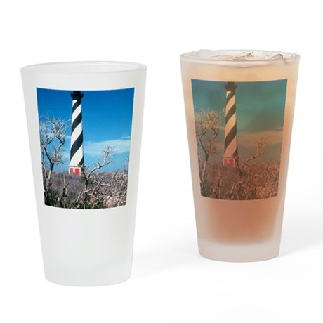 Cape Hatteras Lighthouse NC Drinking Glass