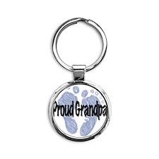 Proud Grandpa (Boy!) Round Keychain