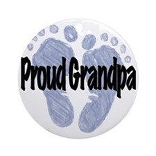 Proud Grandpa (Boy!) Round Ornament