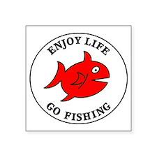 "fishing3 Square Sticker 3"" x 3"""
