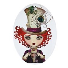 Lady Hatter Oval Ornament