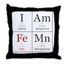 IAmFeMnFlat Throw Pillow